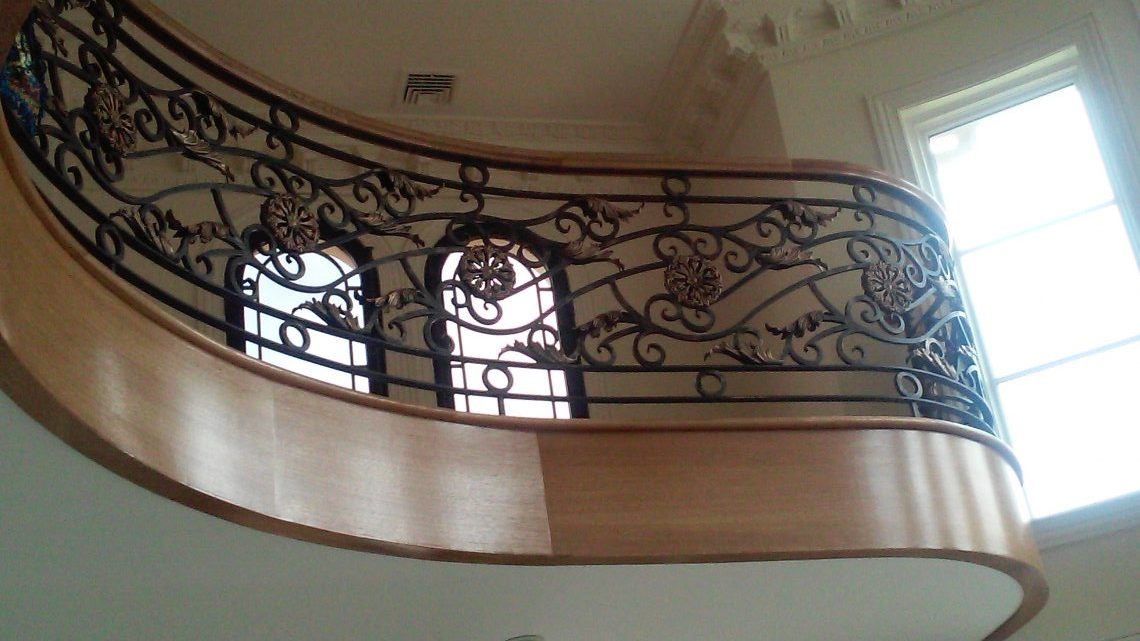 Residential Curved Railing