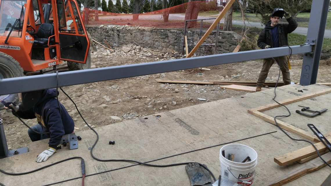 Residential Beam Installation and Welding