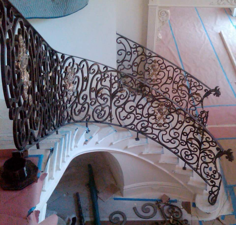 Residential Ornamental Curved Railing