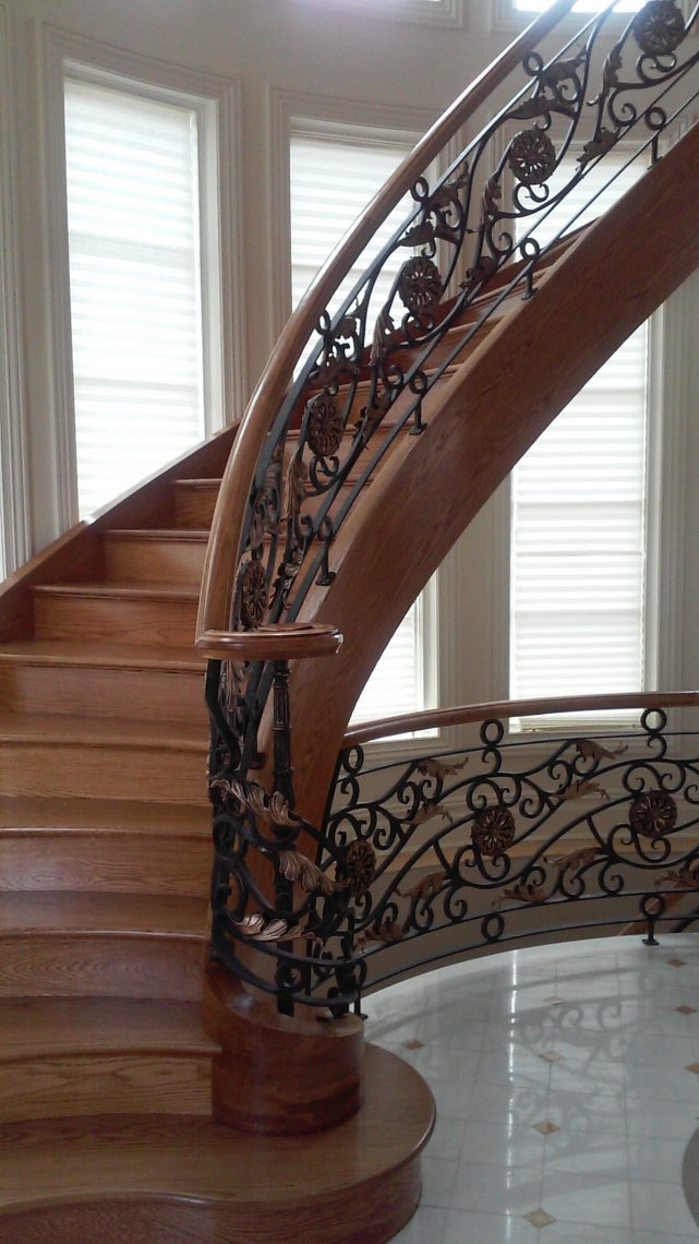 Commercial Ornamental Spiral Stair Railings