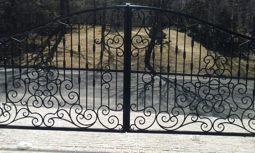 Ornate Property Access Gate