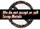 No Scrap Metal Sold or Accepted